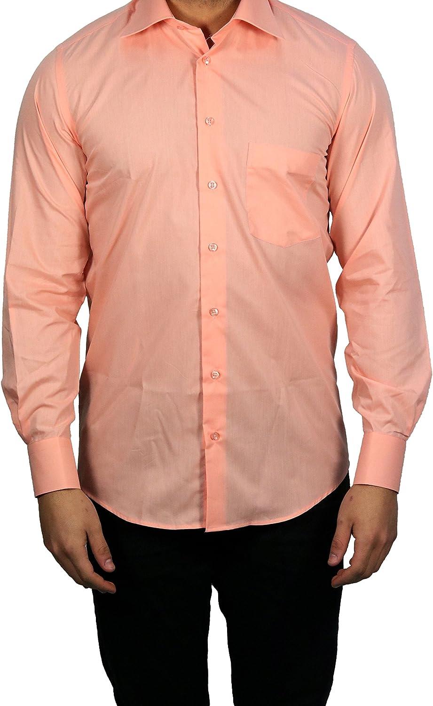 Muga Camisa de manga larga, corte clásico, salmón, S – 5 x l salmón L: Amazon.es: Ropa y accesorios