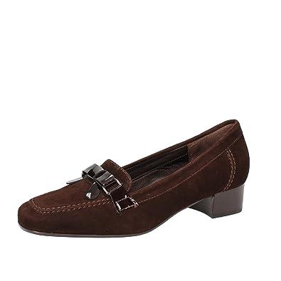 DANIELA ROSSI - Mocasines de ante para mujer marrón marrón marrón Size: 38,5: Amazon.es: Zapatos y complementos