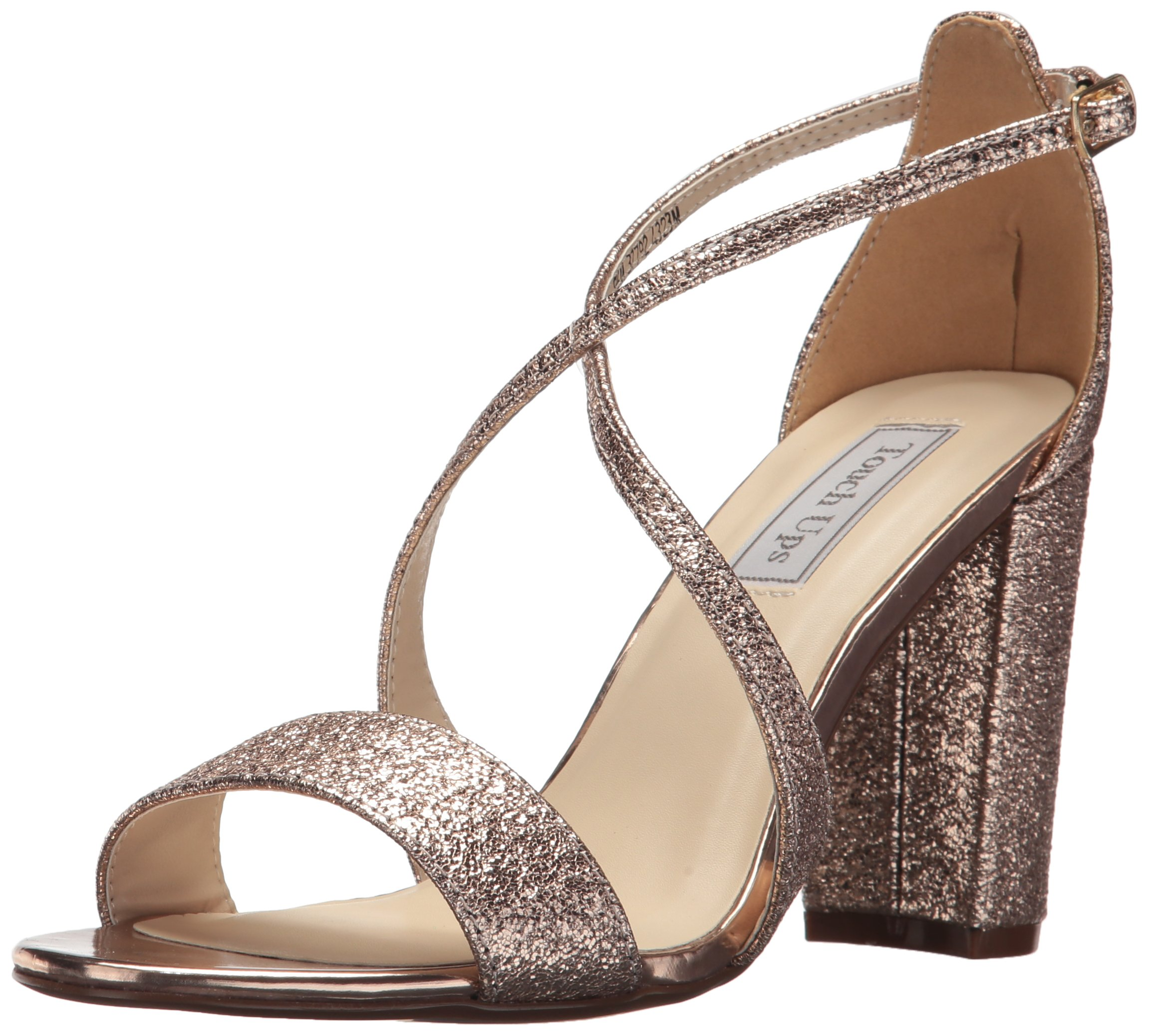 Touch Ups Women's Micah Heeled Sandal, Rose Gold, 8.5 M US