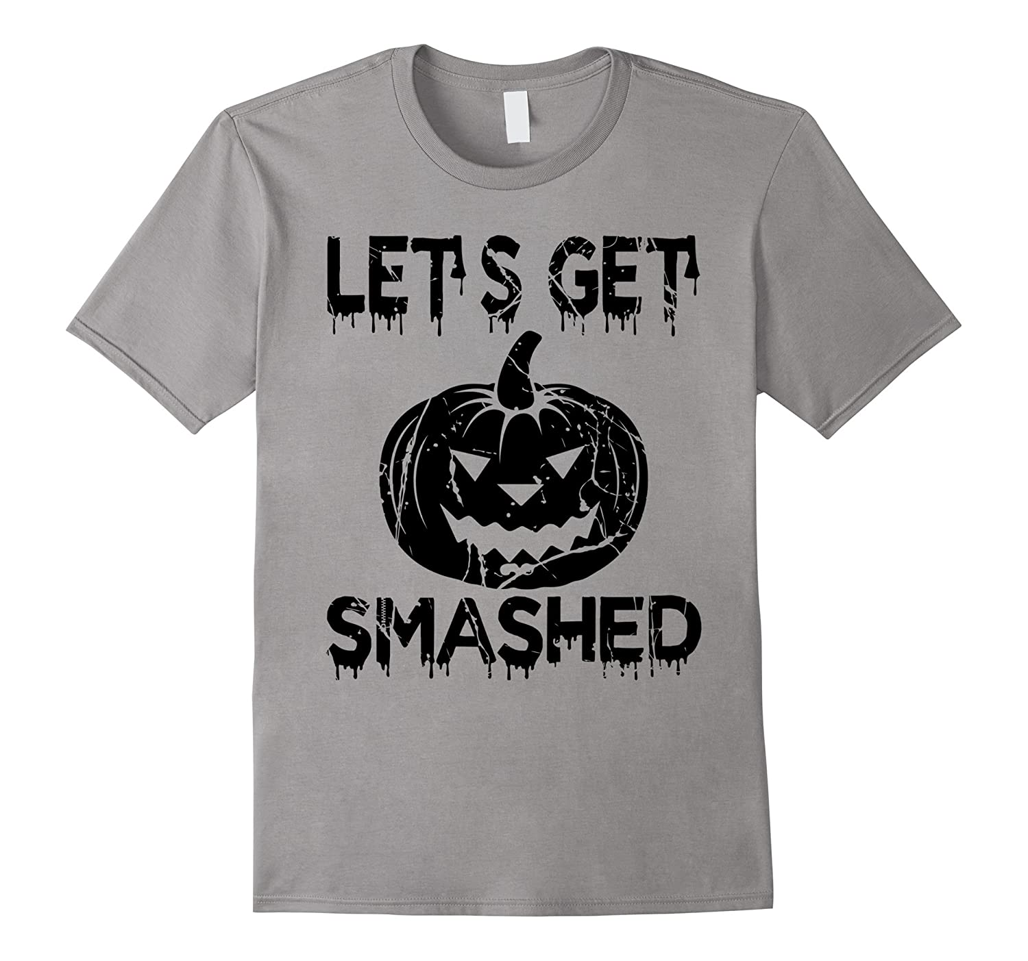 Let's Get Smashed - Scary Halloween T-Shirt Pumpkin Costume-ANZ