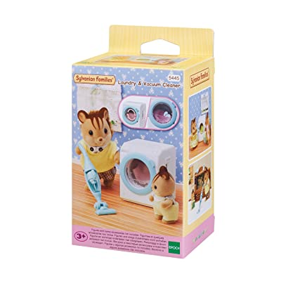 Sylvanian Families 5445 Laundry and Vacuum Cleaner: Toys & Games