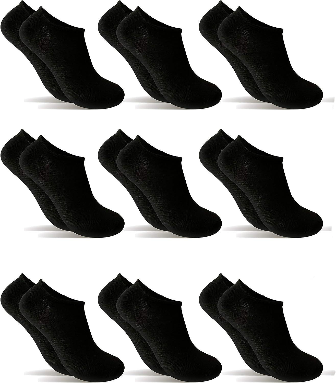 9 Pares Calcetines cortos Mujer hombre, calcetines tobillero
