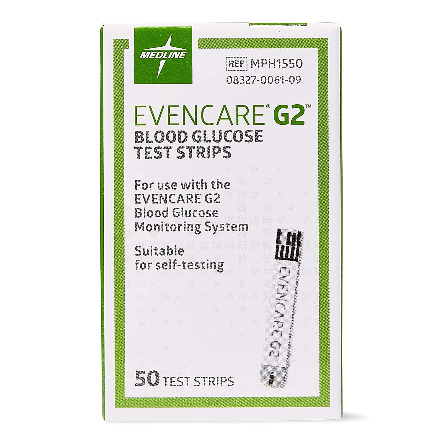 Medline Evencare G2 Blood Glucose Test Strips, For self-testing with Evencare G2 Monitoring System (50 Count): Industrial & Scientific