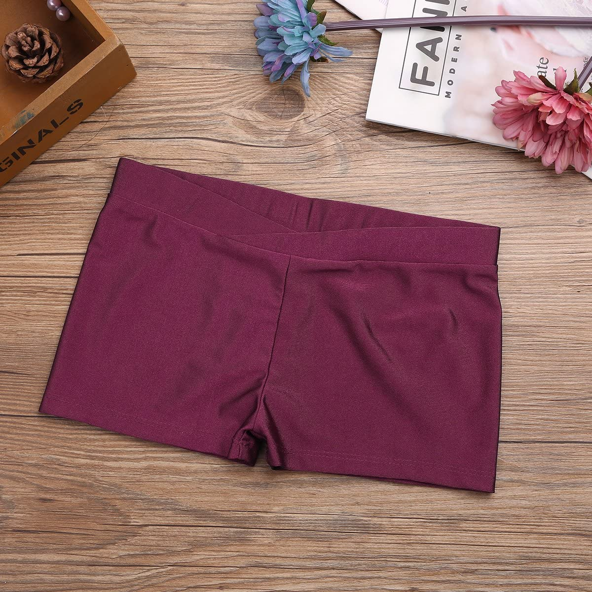 ranrann Kids Girls Safety Dance Dress Basic Sports Shorts Hot Pants Dancing Bike Pants Workout Bottoms