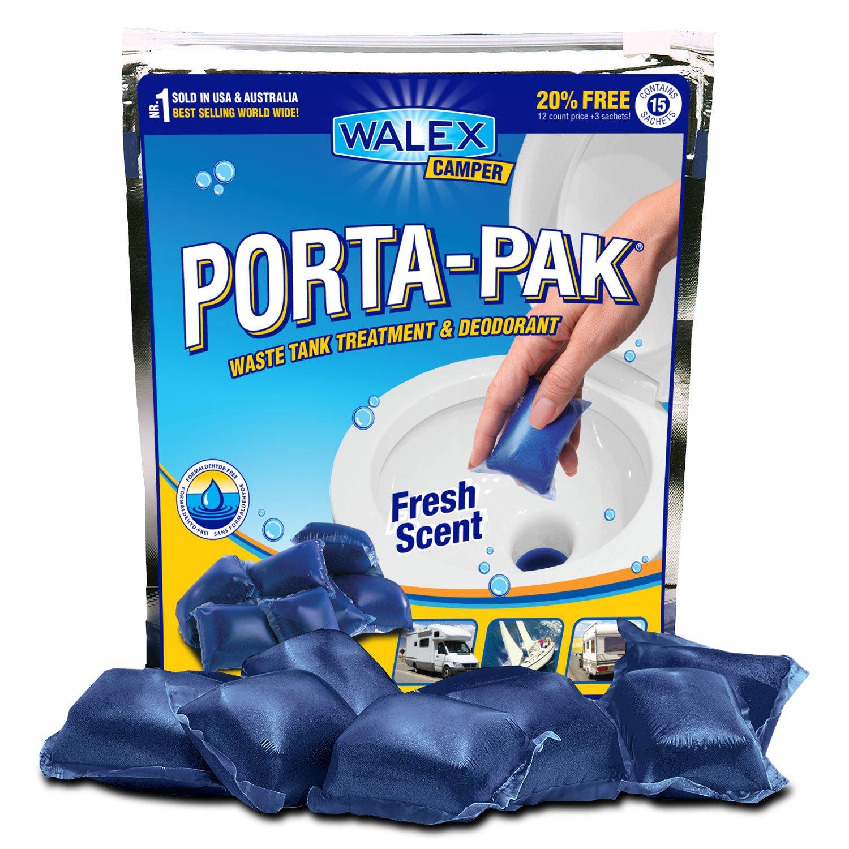 12 Bags x 15 Walex Camper Porta Pak/® Fresh Scent