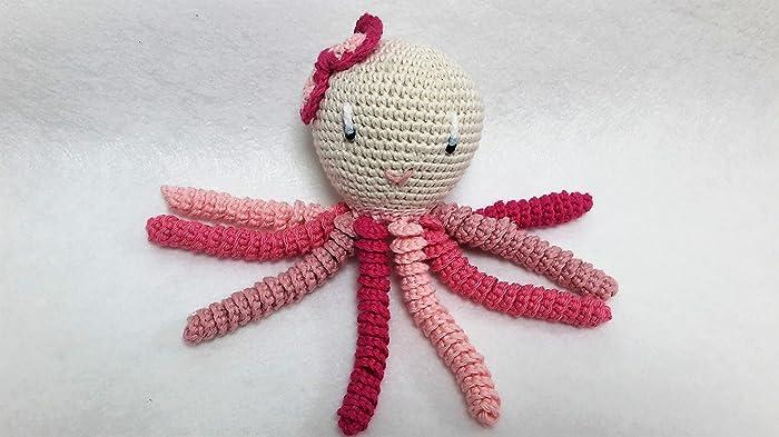 Pulpo amigurumi para recién nacido en distintos tonos de rosa CON ...