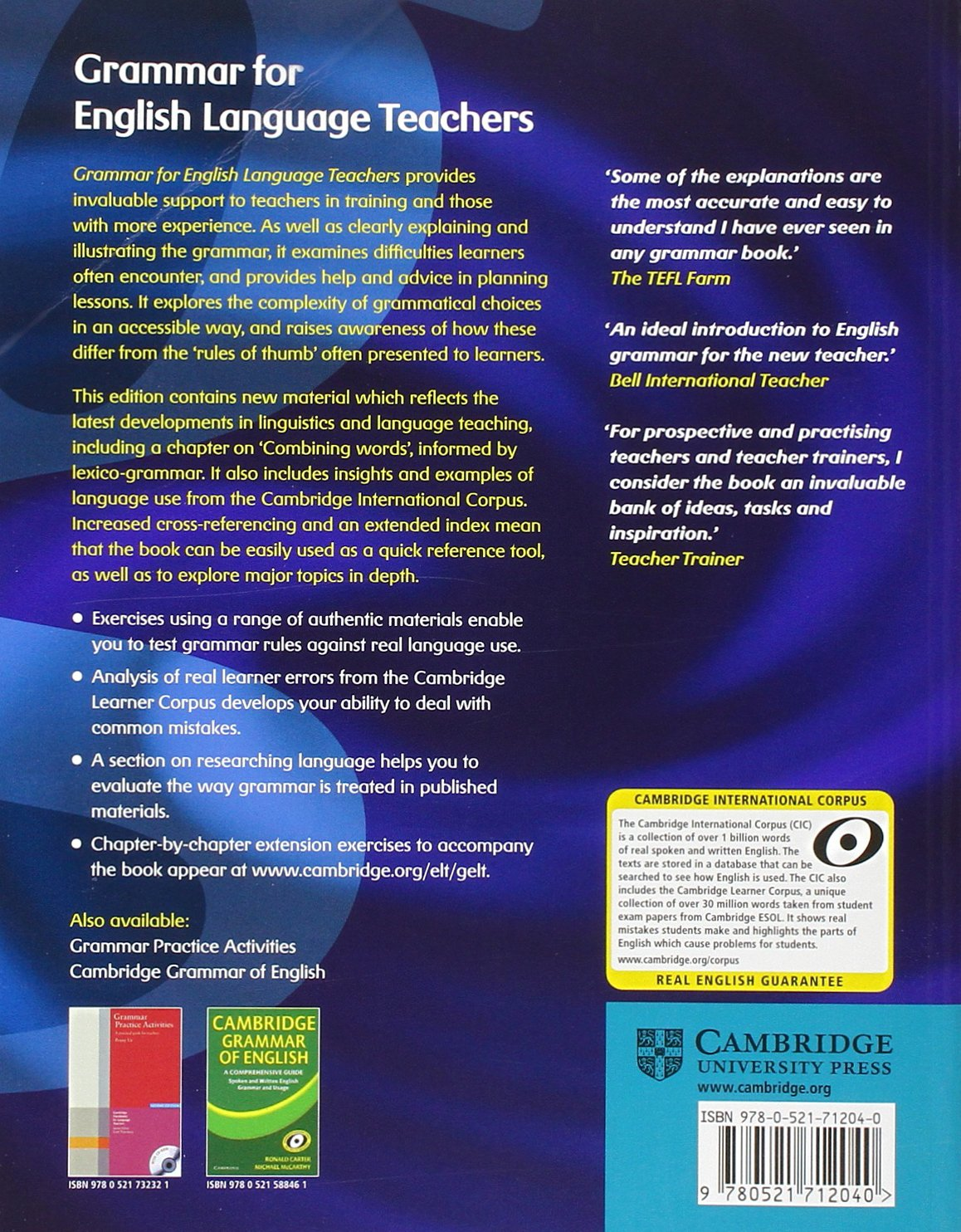 Grammar for English Language Teachers by Cambridge University Press