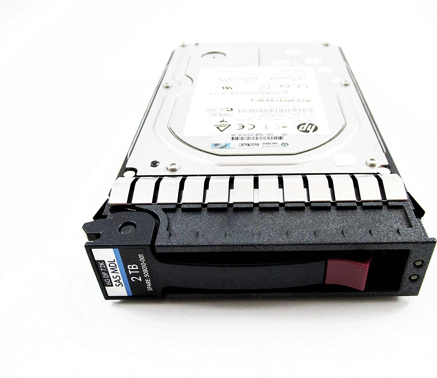 "LOT OF 2 695507-002 507616-B21 HPE 2TB 6G SAS 7.2K LFF 3.5/"" MDL DP HARD DRIVE"
