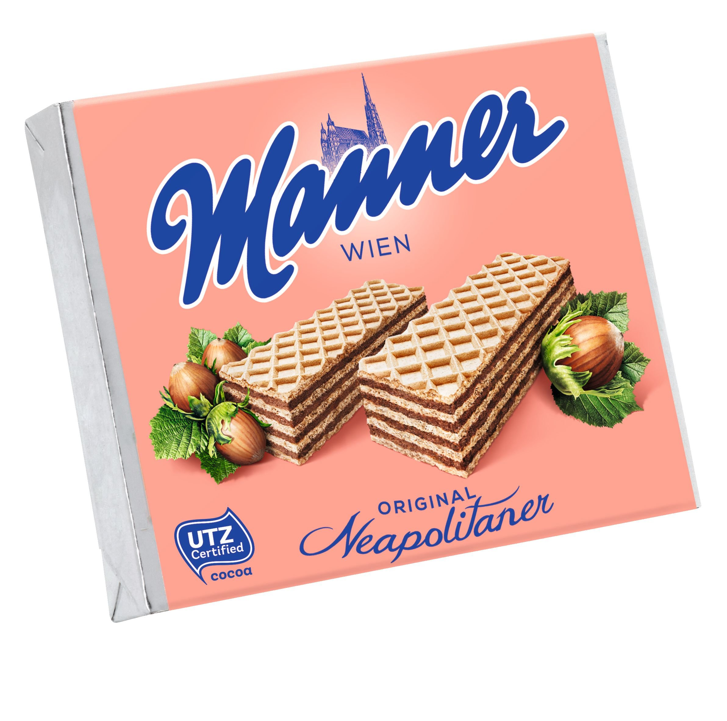 Hazelnut Cream Filled Wafers (Manner) 72g by Manner (Image #1)