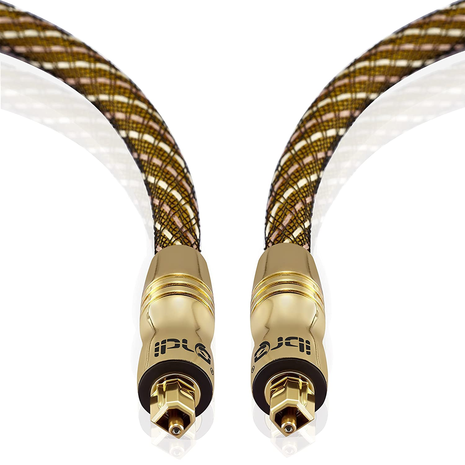 IBRA Master Gold Digital Optical Cable 10 Feets(3Meter) Install Series - suitable for PS3, Sky, Sky HD, LCD, LED, Plasma, Blu-ray, Home Cinema Systems, AV Amps