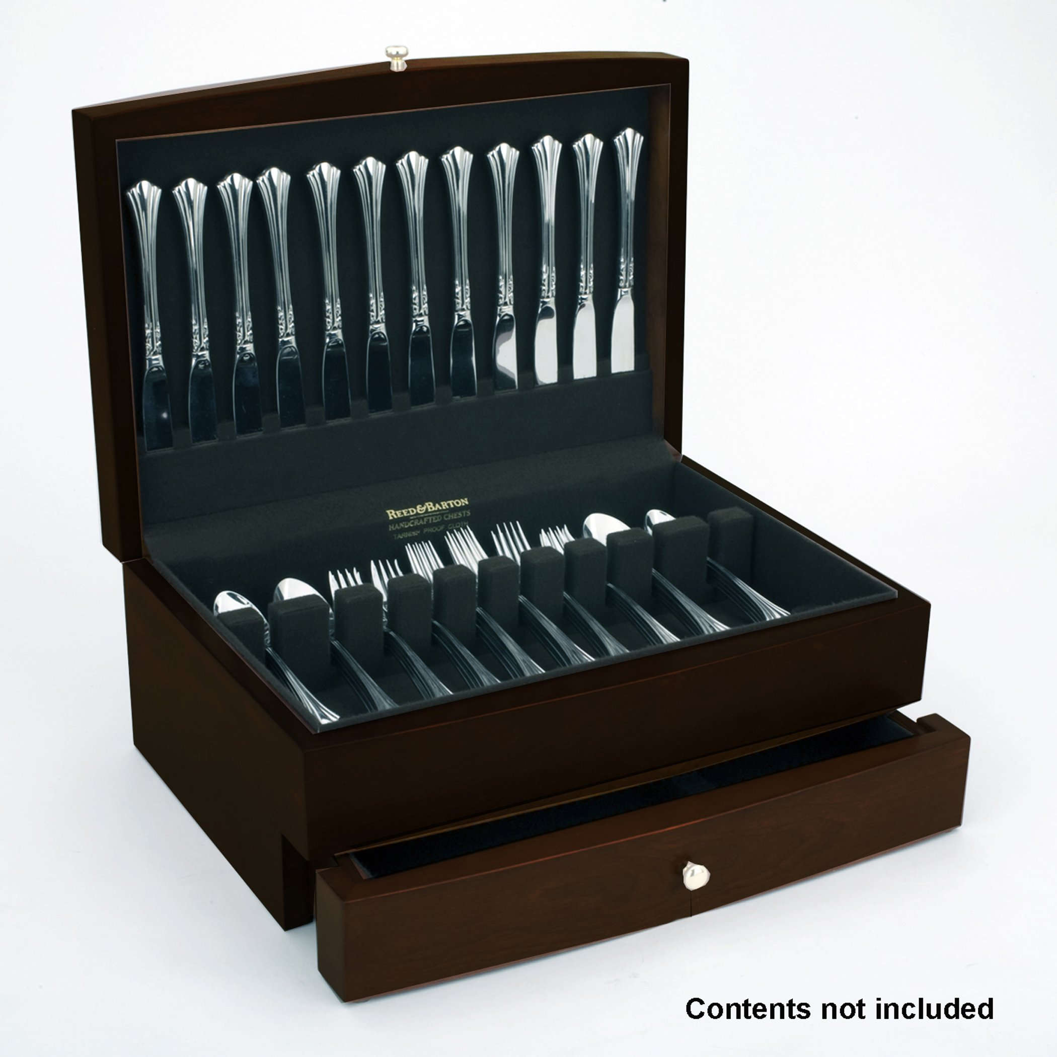 Reed & Barton Falmouth One Drawer Flatware Chest, Dark Espresso with Brown Lining by Reed & Barton