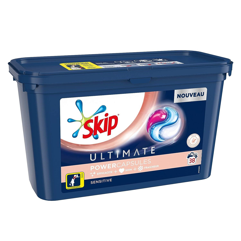 Skip lavandería Cápsulas Trio Ultimate Sensitive 38 lavados ...