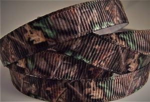 Grosgrain Ribbon - Brown Rustic Camouflage Print - 3/8
