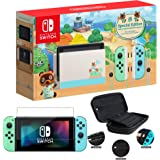 """Newest Nintendo Switch with Green and Blue Joy-Con - Animal Crossing: New Horizons Edition - 6.2"""" Touchscreen Screen…"""