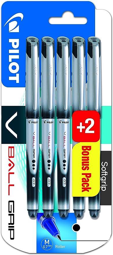 Pilot Vball Grip - Bolígrafo de tinta líquida (punta de 0,7 mm, 5 ...