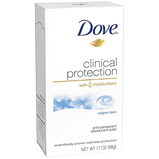 Dove Clinical Protection Antiperspirant Deodorant, Original Clean 1.7 oz