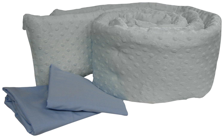 BabyDoll Bedding Heavenly Soft Grandmas Port-A-Crib Bumper Package Blue