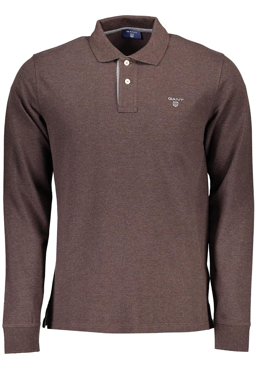 Gant Contrast Collar Pique LS Rugger Sudadera para Hombre: Amazon ...