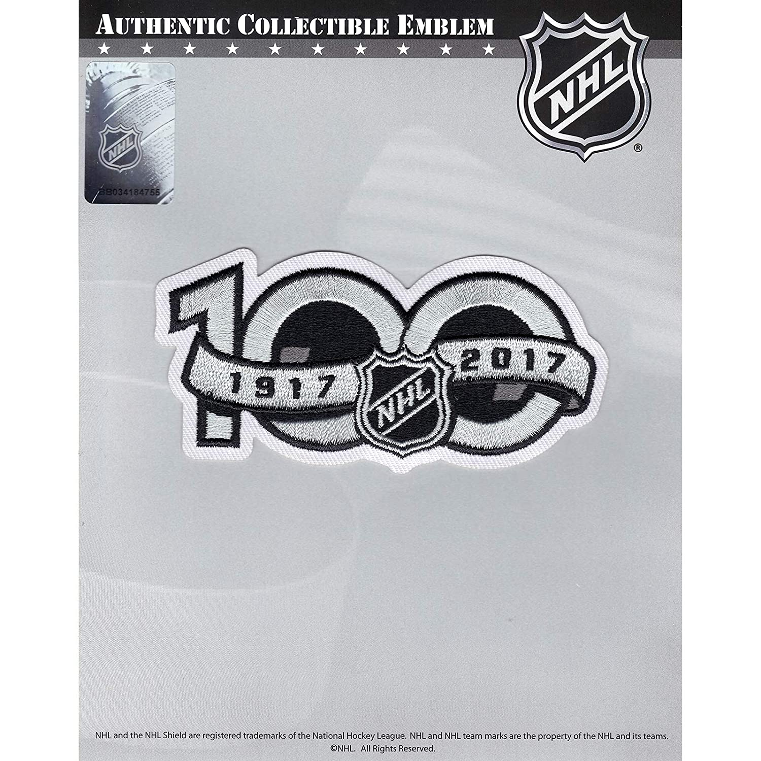 678cccbf0 Amazon.com   National Hockey League NHL 100th Anniversary Jersey Sleeve  Logo Patch 2017 Season   Sports   Outdoors