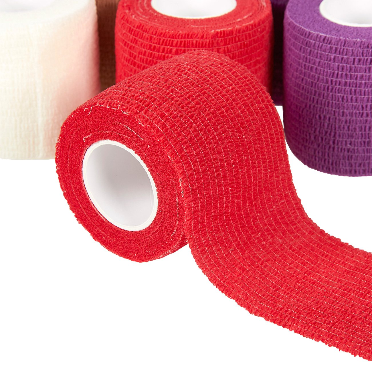 Juvale Pack of 12 Vet Wraps - Gauze Rolls - Cohesive Bandage - Bandage Wrap for Animals, Assorted Colors, 2 Inches x 66.9 Inches by Juvale (Image #5)