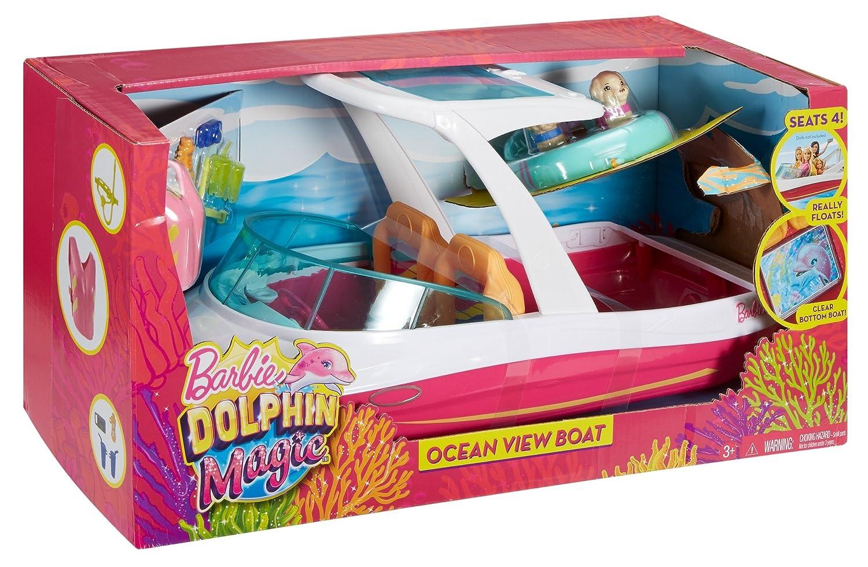 FBD82 Barbie Motoscafo Vista Fondale