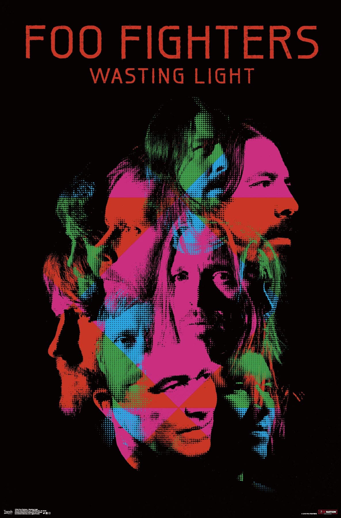 Trends International Foo Fighters - Wasting Light Wall Poster, Multi