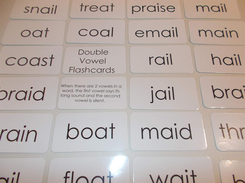 100 Laminated Double Vowel Flashcards.