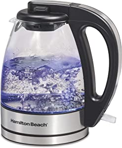 Hamilton Beach Compact Glass Kettle, 1 Liter (40930) (Renewed)