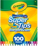 Crayola Super Tips Washable 100 Count Markers