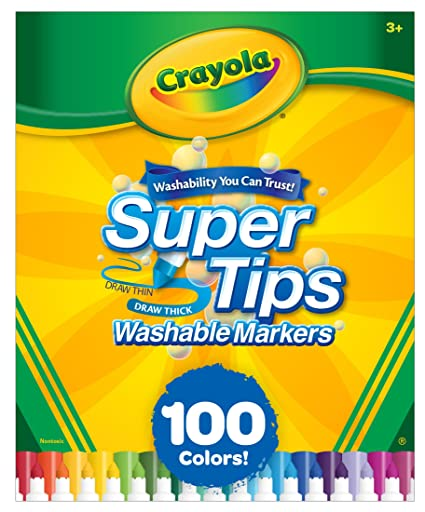 Amazon crayola super tips washable markers 100 count bulk crayola super tips washable markers 100 count bulk easter gifts for kids negle Gallery