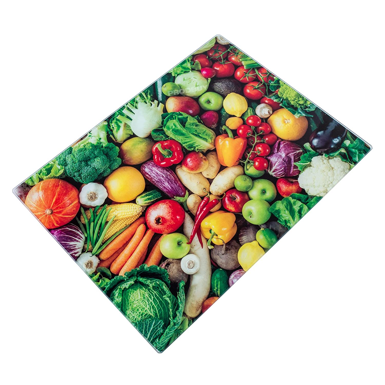 40cm x 30cm Glass Worktop Saver - Photographic Fruit & Vegetables ProdBuy Limited