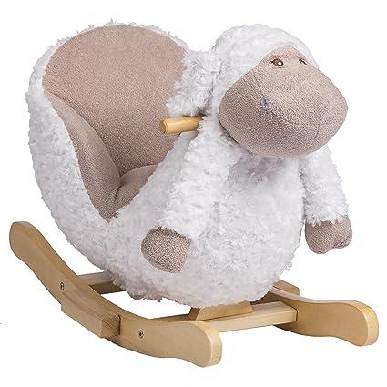 Pleasant Rockin Rider Bashful The Lamb Baby Rocker Plush Ride On Inzonedesignstudio Interior Chair Design Inzonedesignstudiocom