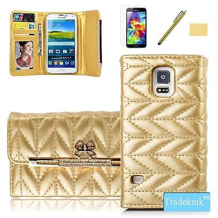 Amazon Com Galaxy S5 Case Tradekmk Tm Superior Soft Grid Leather