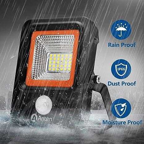 Anten Foco con Sensor de Movimiento, 20W Foco LED Exterior con Sensor Movimiento, 2200LM
