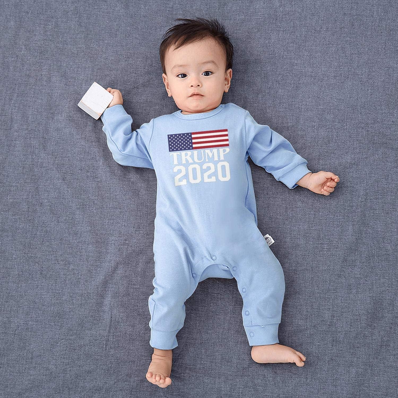 smsdpmc Trump 2020 Bodysuit White Newborn Infant Baby Girls Boys Footie Romper Overalls