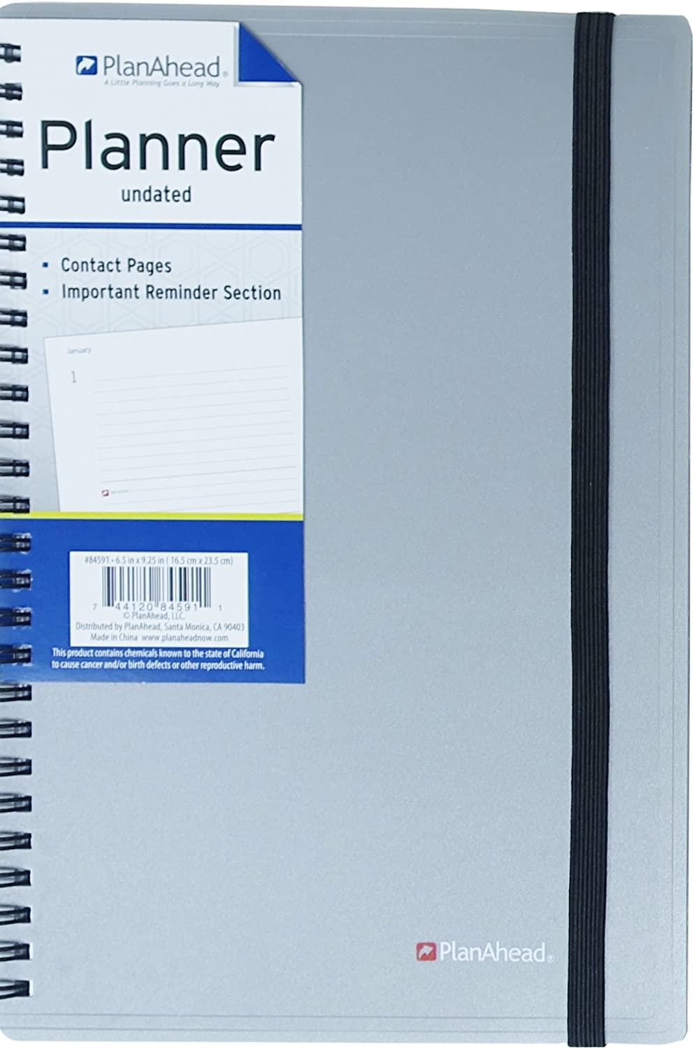 Assorted Colors 6.5 x 9.25 PlanAhead Medium Planning Notebook 84591 May Vary