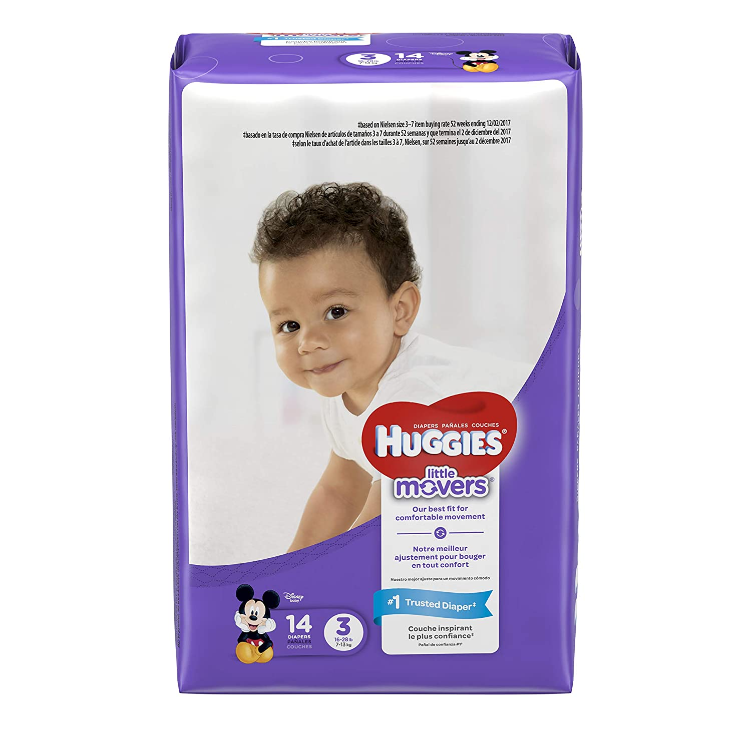 HUGGIES LITTLE MOVERS, Baby Diapers, Size 4, 12ct (Packaging May Vary) Kimberly-Clark Corp. CA