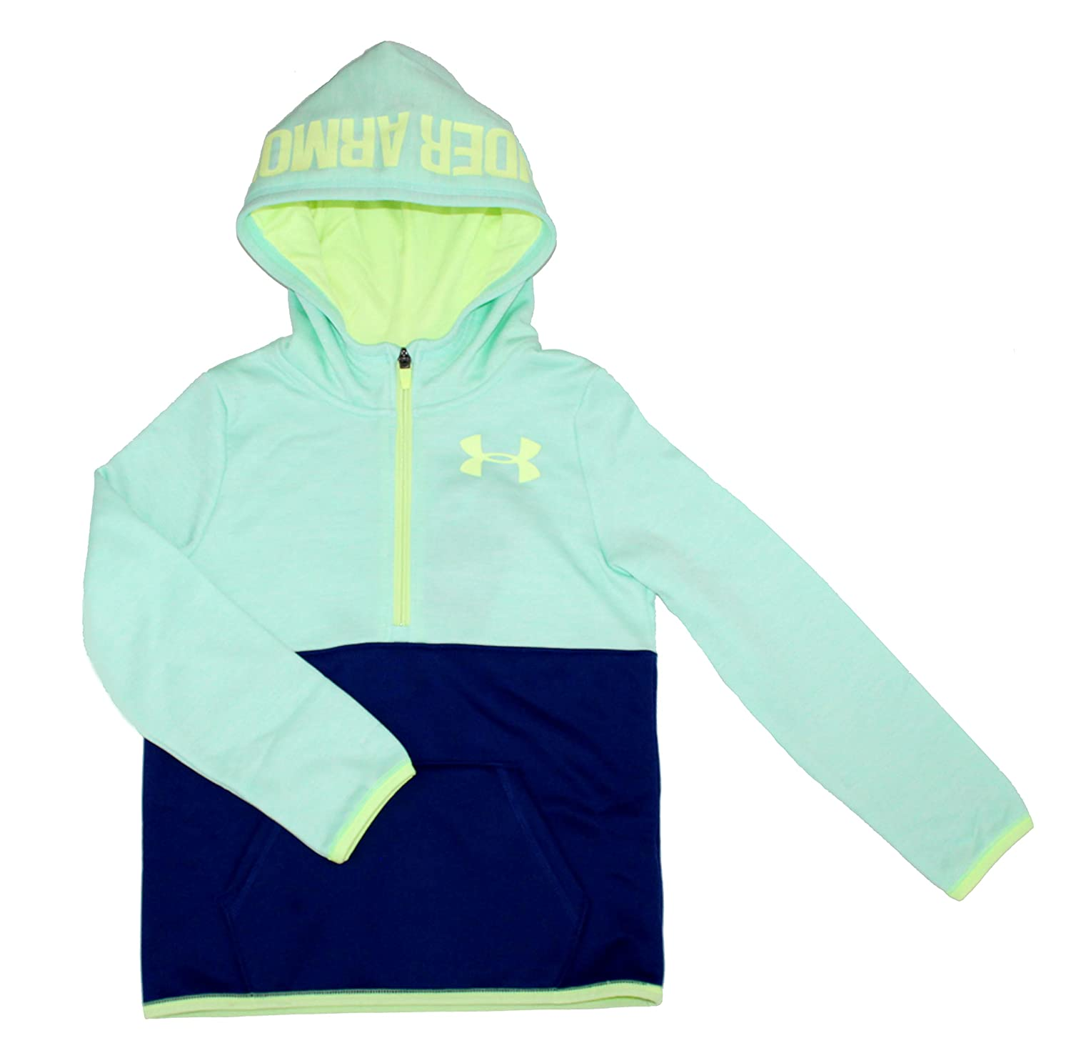 Under Armour Big Girls Youth Athletic 1//2 Zip Storm Hoodie Fleece Lined Pullover
