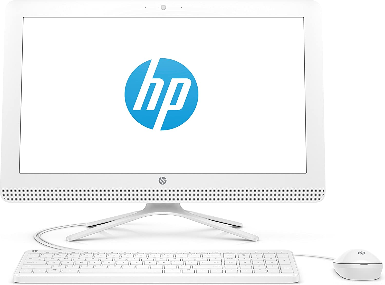 """2019 New HP 22 All-in-One PC Full HD 21.5"""" Intel Celerion G4900T Intel UHD Graphics 610 1TB HDD 4GB SDRAM DVD Privacy Webcam Serenity Mint"""