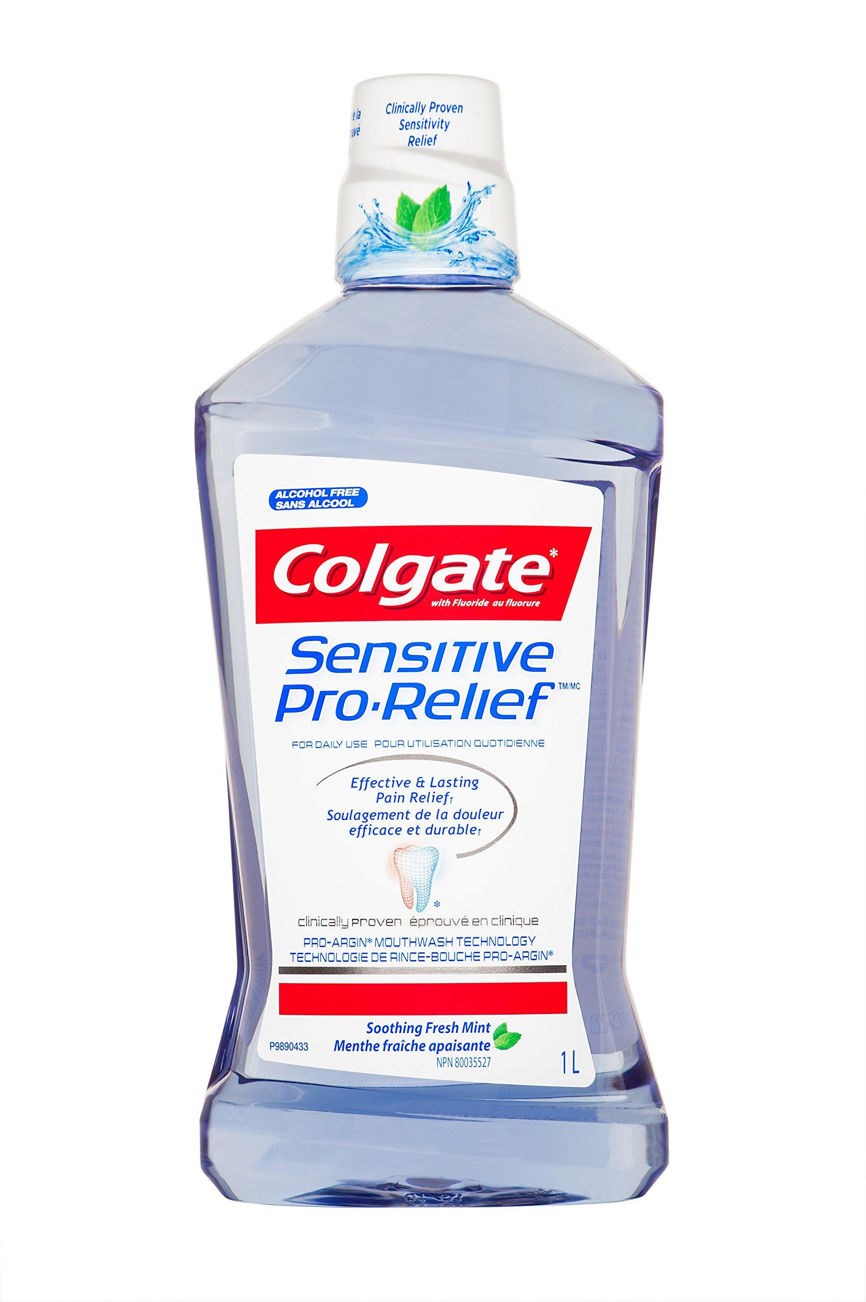 Colgate Sensitive Pro Relief Mouthwash Pro Argin Alcohol Free - Effective & Lasting Pain Relief (1000ml / 33.8 fl oz) by Colgate (Image #1)