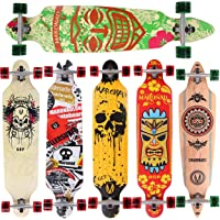 MARONAD Longboard Skateboard drop through Race Cruiser ABEC-11 Skateboard 104x24cm Streetsurfer skaten FUN