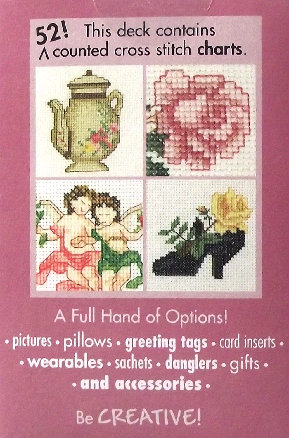Bucilla Creating With A Full Deck 52 counted cross stitch charts playing cards