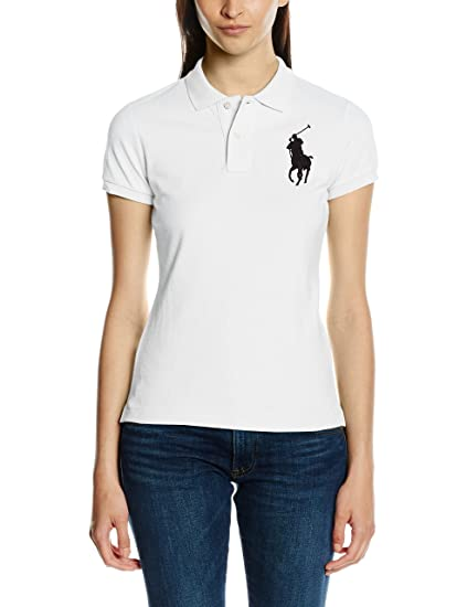 Polo Ralph Lauren BPP Polo SS KNT, Weiß (White A1000), 38 para ...