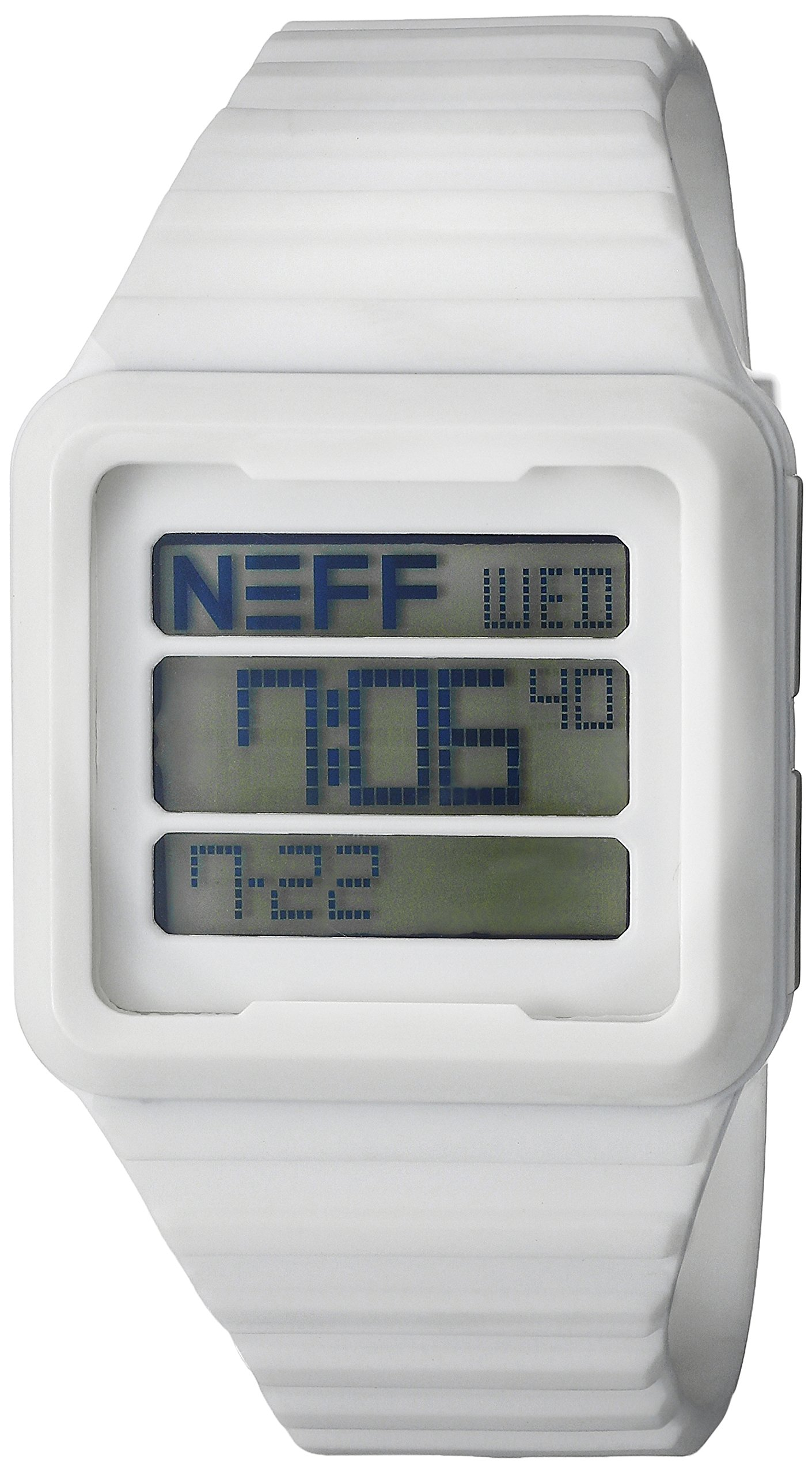 Neff Men's NF0234WHIT Odyssey Digital Display Chinese Automatic White Watch