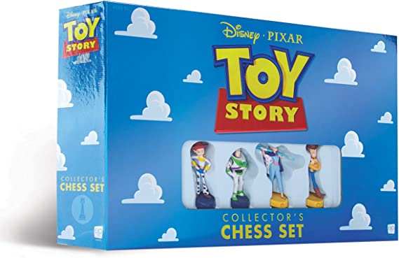 Disney Pixar Toy Story Collector's Chess Set | Featuring Toy Story 4 Characters - Jessie