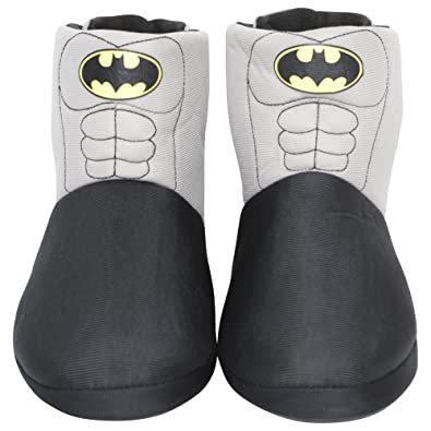 bb7c72abe6d8 Mens Boys Batman Novelty Slipper Boots Kids Shoe Sizes 1-6 Adults Sizes 7