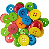 Blumenthal Lansing Favorite Findings Basic Buttons Assorted Sizes, 130/Pkg, Citrus