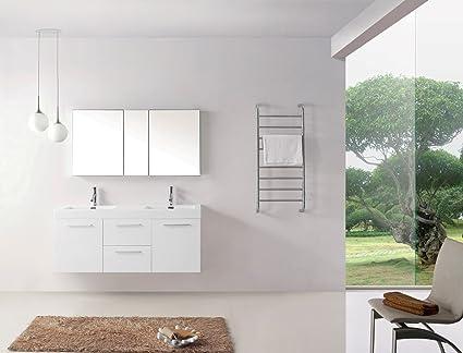 Virtu USA JD 50154 GW 54 Inch Midori Double Sink Bathroom Vanity,