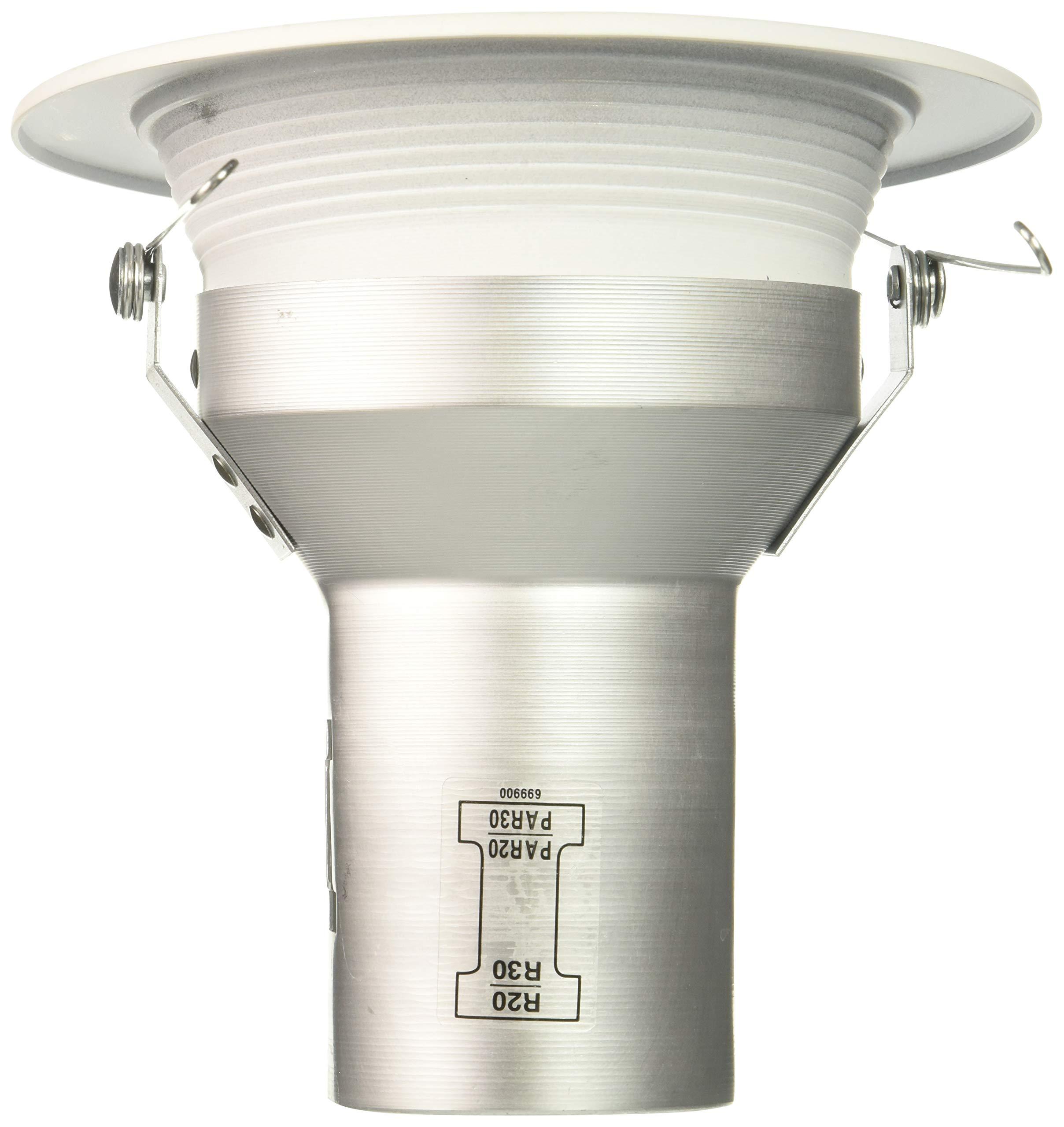 HALO Recessed 5001P-6PK Trim Baffle White Trim with White Baffle, 5''