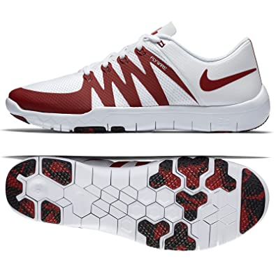 Nike Free Trainer 5.0 V6 AMP Oklahoma Sooners 723939 101 White/Crimson Men s Shoes (size 9)